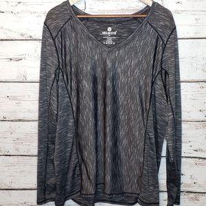 Velocity Long Sleeve Activewear 2X Shirt Plus Size